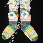 Free Spirit Slipper Socks in Pretty Pastels