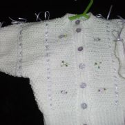 Ribbon and Bows Baby Cardi