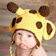 Giraffe hat free pattern