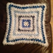 Different Shade of Blues Fluffy Blankie
