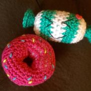 Crochet donut and candy
