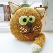 Free Crochet Cat Pillow Pattern