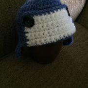 Crocheted baby aviator hat