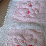 double knit blanket with removeable quilting for easy washing