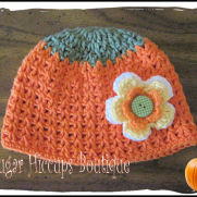 Pumpkin Flower Crochet Hat