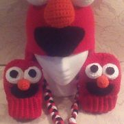 Elmo Hat & Mitts
