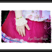 Shabby Chic Victorian Crochet Adjustable Wrist Cuffs Pattern
