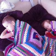 2 boys, 2 blankets