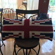 England Flag Pillow