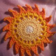 My crochet sun :-)