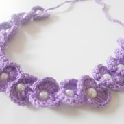 scallop bead headband