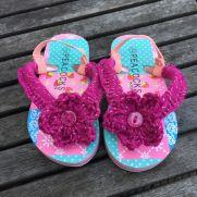 Crochet Flip Flops - Kids