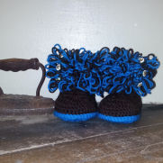 crocheted Loopy Slippers