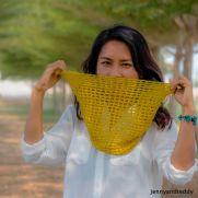 mesh lace cowl