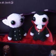 Nosferatu & Dracula Amigurumis - La Calabaza de Jack