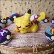 Sleepy Pikachu Amigurumi - Pokemon - La Calabaza de Jack