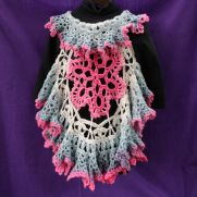 Circle Vest in Lion Brand Mandala in Unicorn