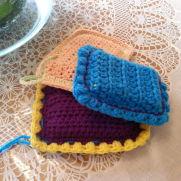 Crocheted spongies