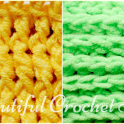How to Make Front Post and Back Post Double Crochet Stitches