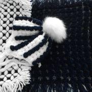 Pompom Blanket and crochet hat