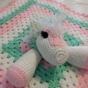 Horsey Lovey Blanket