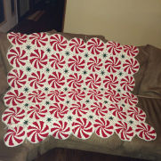 Pinwheel Afghan Peppermint Throw