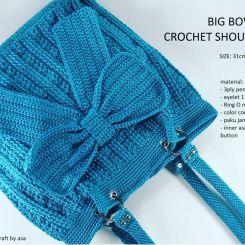 Big Bow Crochet bag
