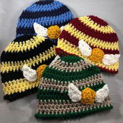 Handmade Crochet Harry Potter Newborn Hats