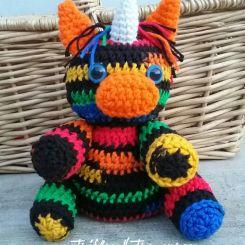 Pedro the Rainbow Zebra Unicorn