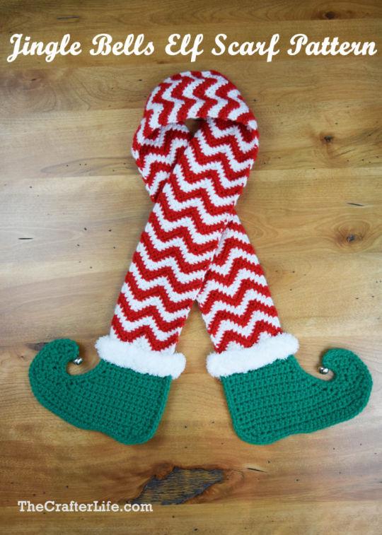 Jingle Bells Elf Scarf Pattern