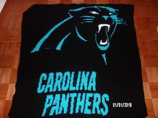 Carolina Panthers graphghan