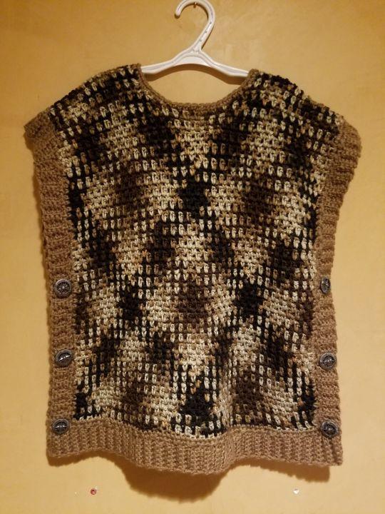 Pooling Crochet Poncho