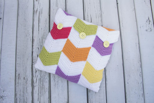 Chevron mix up Cushion cover