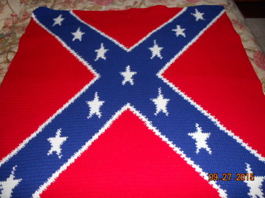 Confederate Flag - Crochet creation by Charlotte Huffman - Crochet ...
