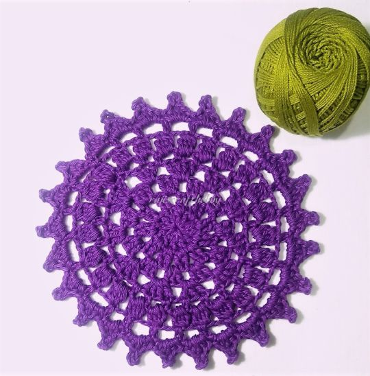 Easy Crochet Doily Coaster