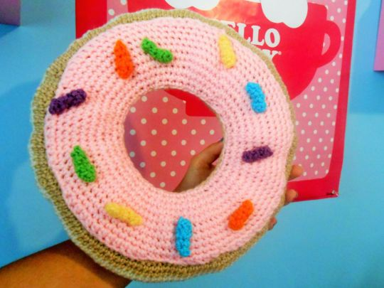 Big Donut Cushion with Sprinkles