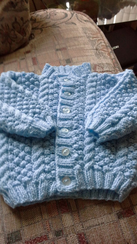 boys blue blackberry pattern