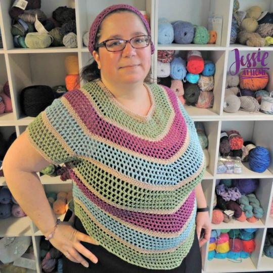 Hexed crochet top