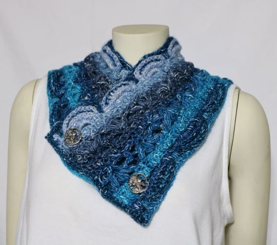 Roxy's Cowl in Shawl in a Cake Healing Teal.