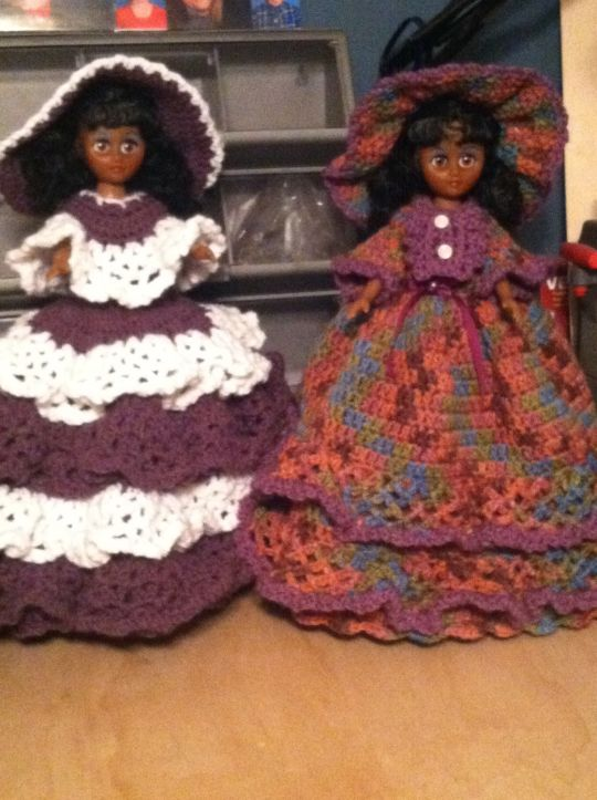 Crochet doll doorstop