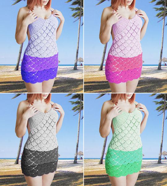 Crochet Halter Dress Pattern