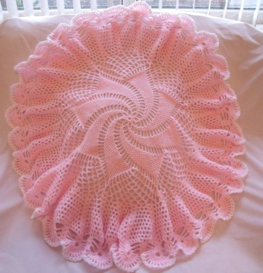 Baby Pink Windmill Shawl Crochet Creation By Catherine Crochet