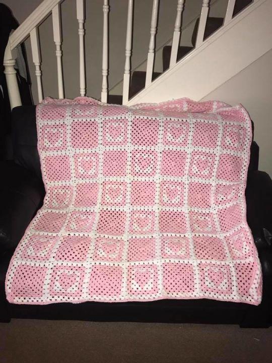 Baby Girl Cot Blanket