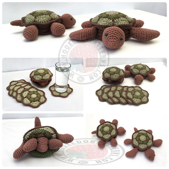 Hideaway Turtle Coaster Sets