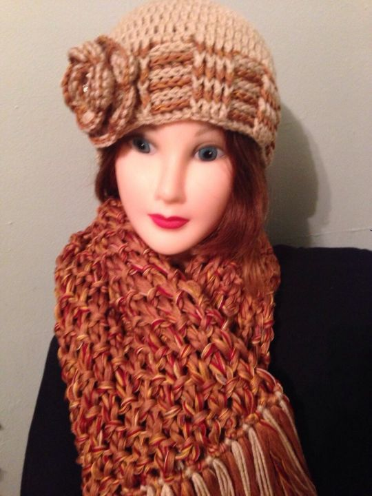 Elegance in hats and scarves.