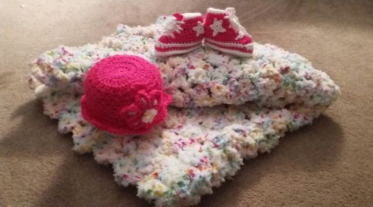 Crochet Baby Girl Spring Set