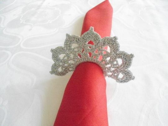 Wedding Decoration Set,  Silver Crochet Napkin Holder, Wedding Table Décor, Wedding Ceremony