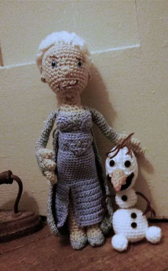 Elsa and Olaf from the Movie Frozen
