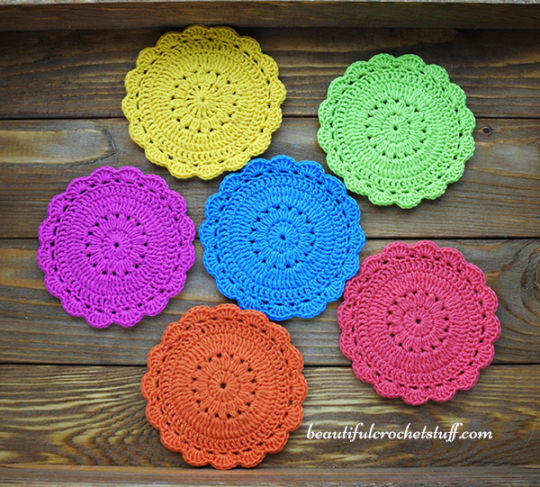 Crochet Coaster Free Pattern Crochet Creation By Janegreen
