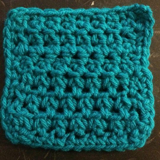 Coaster No. 2 (Stitches Week 3: Single Crochet Cluster Stitch)